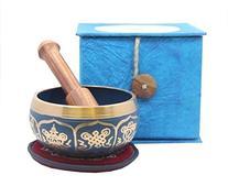 Tibetan Buddhist Blue 8 Lucky Symbols Yoga Meditation