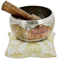 Tibetan Singing Bowl Meditation Copper and Silver Buddhist D