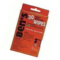 Ben's 30% DEET Mosquito, Tick and Insect Repellent Wipes, 12