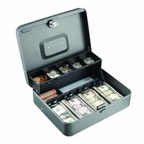 STEELMASTER Tiered  Cash Box, Gray, 2216194G2