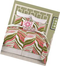 Trina Turk Tiger Leaf Full/Queen Coverlet, 90 by 90-Inch,