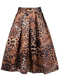 Choies Womens Tiger Pattern/Leopard Print/Navy/Colorful