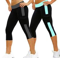 iLoveSIA 2Pack Women's Tight 3/4 Legging Capri US Size S