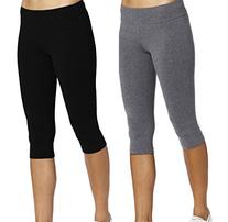 iLoveSIA 2PACK Women's Tight Capri Yoga Workout Leggings