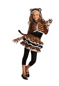 Drama Queens Tigress Hoodie Costume, Medium