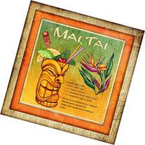 Tiki Bar Mai Tai Drink Recipe Art Print
