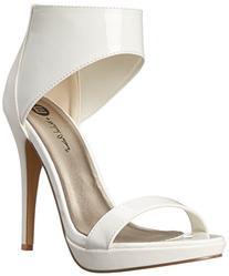 Michael Antonio Women's Tila Dress Sandal, White, 7.5 M US