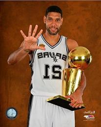 Tim Duncan San Antonio Spurs 2014 NBA Champions Trophy Photo