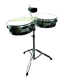 Timbale Drum Set w/ Stand & Cowbell