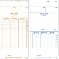 Acroprint Time Card For Model Atr120 Electronic Clock,