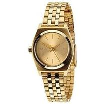 Nixon Small Time Teller Champagne Dial Gold-tone Ladies
