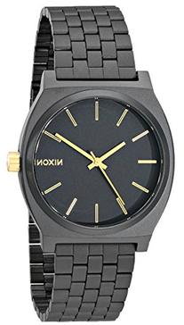 Nixon Time Teller Watch - Men's Matte Black/Gold Accent, One