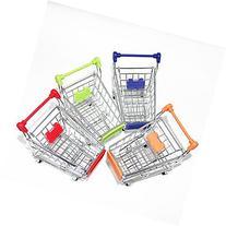 Tint Mini Cute Simulation Shopping Cart Alloy Desk Storage
