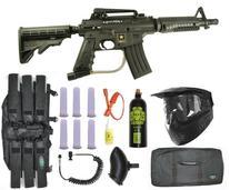 US Army Alpha Black Tactical Paintball Marker Gun Sniper Set