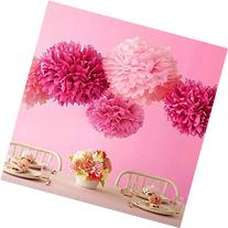 Bekith 20 Pack Tissue Paper Flowers Pom Poms Wedding Decor