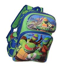 "TMNT Ninja Turtles Deluxe 3D Embossed 16"" School Bag"