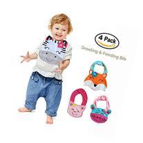 Lil' Oopsies Toddler Bibs Set of 4 - Premium Quality, 3
