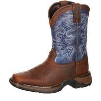 Durango Toddler-Boys' Navy Blue Western Boot Square Toe Dark