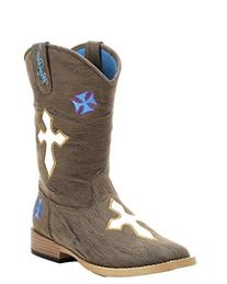 Blazin Roxx Toddler-Girls' Sierra Zipper Cowgirl Boot Square