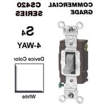 20 Amp 4-Way Toggle Switch Commercial - White