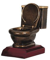 Toilet Bowl Trophy by Decade Awards