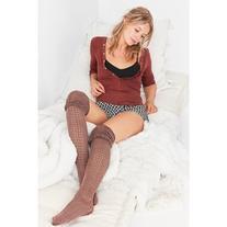 Tonal Scrunchy Over-The-Knee Sock