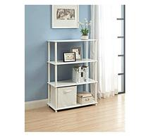 No Tools 6-Cube Storage Shelf, White. Easy To Assemble and
