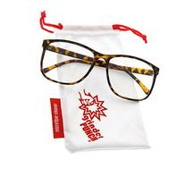 grinderPUNCH Tortoise Large Nerdy Thin Plastic Frame Clear