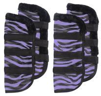 Tough-1 Zebra Mesh Fly Boots Purple Zebra