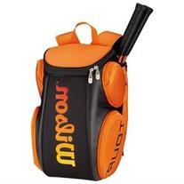 Wilson Tour Molded Large Tennis Backpack Black and Orange