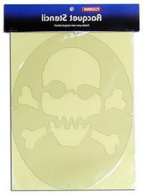 Tourna Fun Skull & Crossbones Racquet Stencil