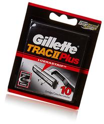 Gillette Trac II with Lubrastrip Men's Razor Blade Refills,
