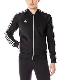 adidas Originals Men's Superstar Track Top, X-Large, Black