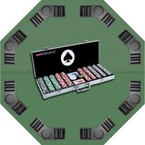Trademark Poker 4 Aces Chips with Aluminum Case and Tabletop