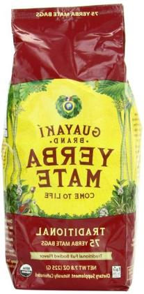 Guayaki Traditional Organic Mate Tea, 7.8oz , 75 Tea Bags
