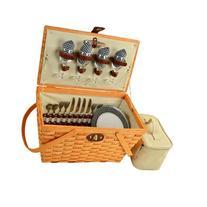 Traditional Settler Picnic Basket for Four