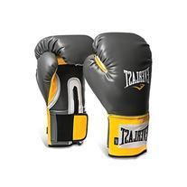 Everlast Pro Style Training Gloves, Grey/Orange, 16-Ounce