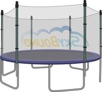 12' Trampoline Enclosure Safety Net for 6 Straight Poles