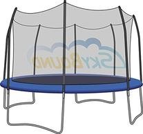 SkyBound Trampoline Net Fits Round 15 Ft. Frames Fits 8