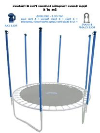 Trampoline Replacement Enclosure Poles & Hardware, Set of 6