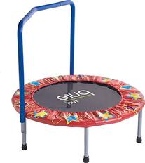 "Pure Fun Kids 36"" Mini Trampoline with Handrail, Youth Ages"