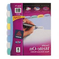 Avery Big Tab Write & Erase Durable Plastic Dividers, 8