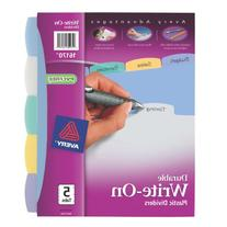 Avery Big Tab Write & Erase Durable Plastic Dividers, 5