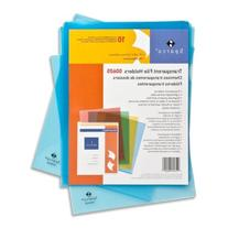 """Transparent File Holders, Water Resistant, 11""""x8-1/2"""", 10"""