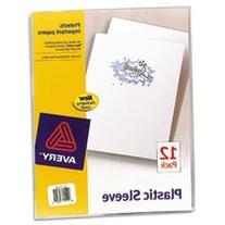 Avery 72311 Plastic Sleeves Letter Polypropylene Clear 12/Pk