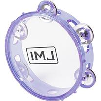 LMI Transparent Tambourine with Head Purple 15CM