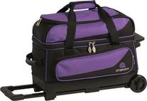 Ebonite Transport 2 Double Roller Bowling Bag, Purple