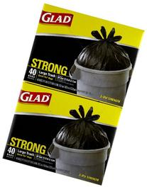 Glad Large Trash Bags Quick-Tie 40 CT