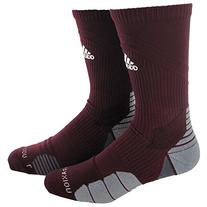 adidas Traxion Menace Football/Baseball Crew Socks, Maroon/