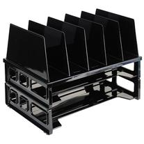 Officemate Letter Trays and Vertical Sorter, Black
